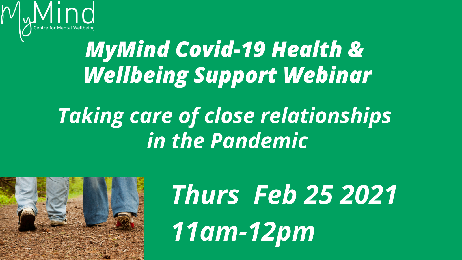 2021 Webinar Series: Taking care of close relationships in the Pandemic