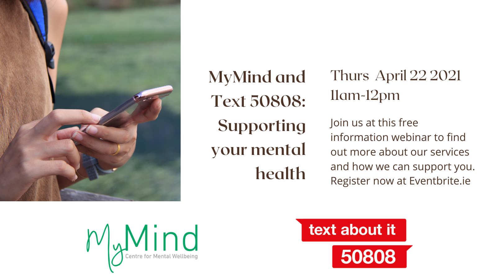 2021 Webinar Series: MyMind and Text50808: Supporting your mental health